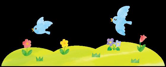 野原イラスト鳥